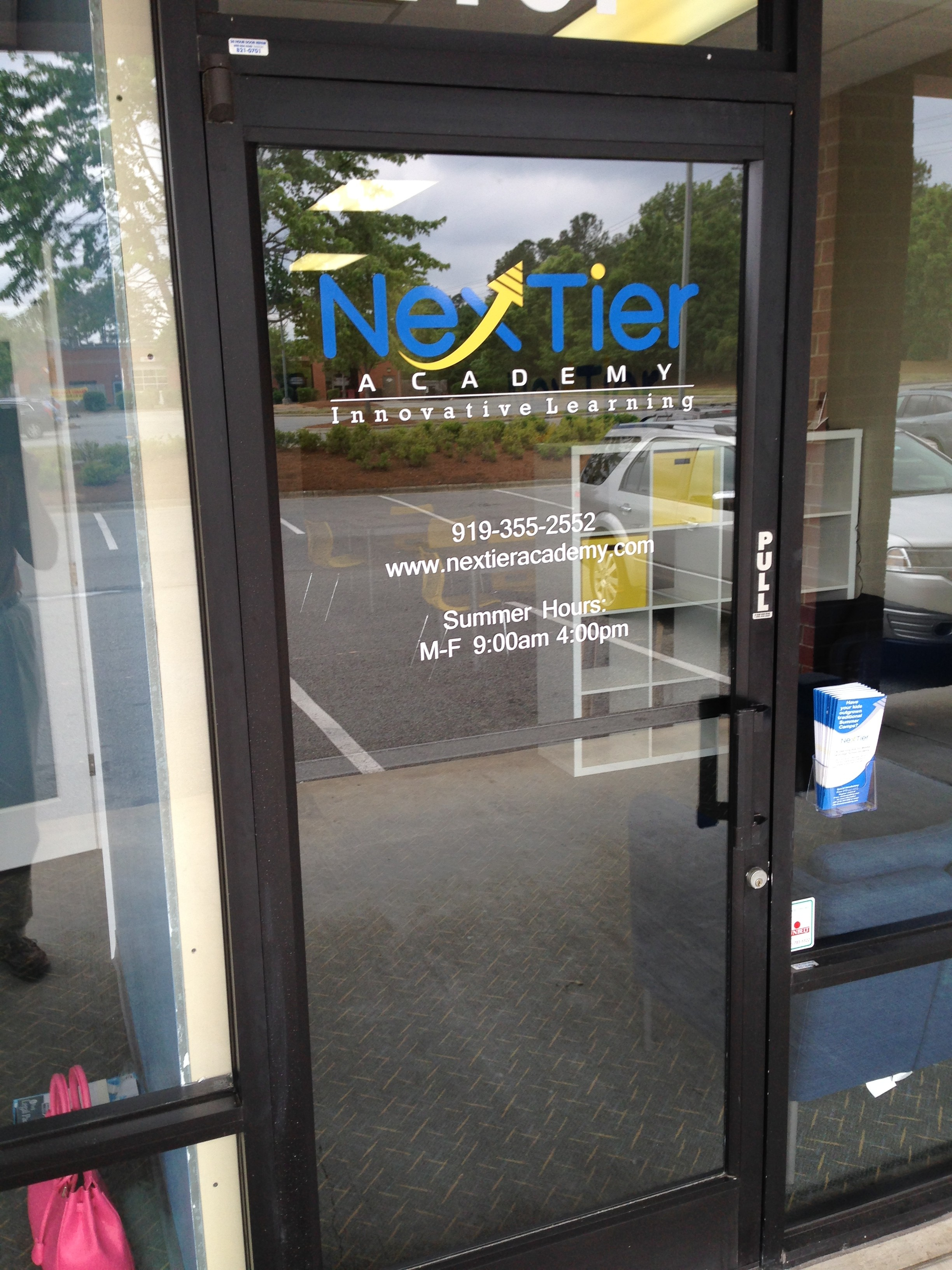 Nextier Academy Door Graphics and Cut Vinyl Letters & New Business in Apex-Triangle Area Nextier Academy Gets Custom Signs Pezcame.Com