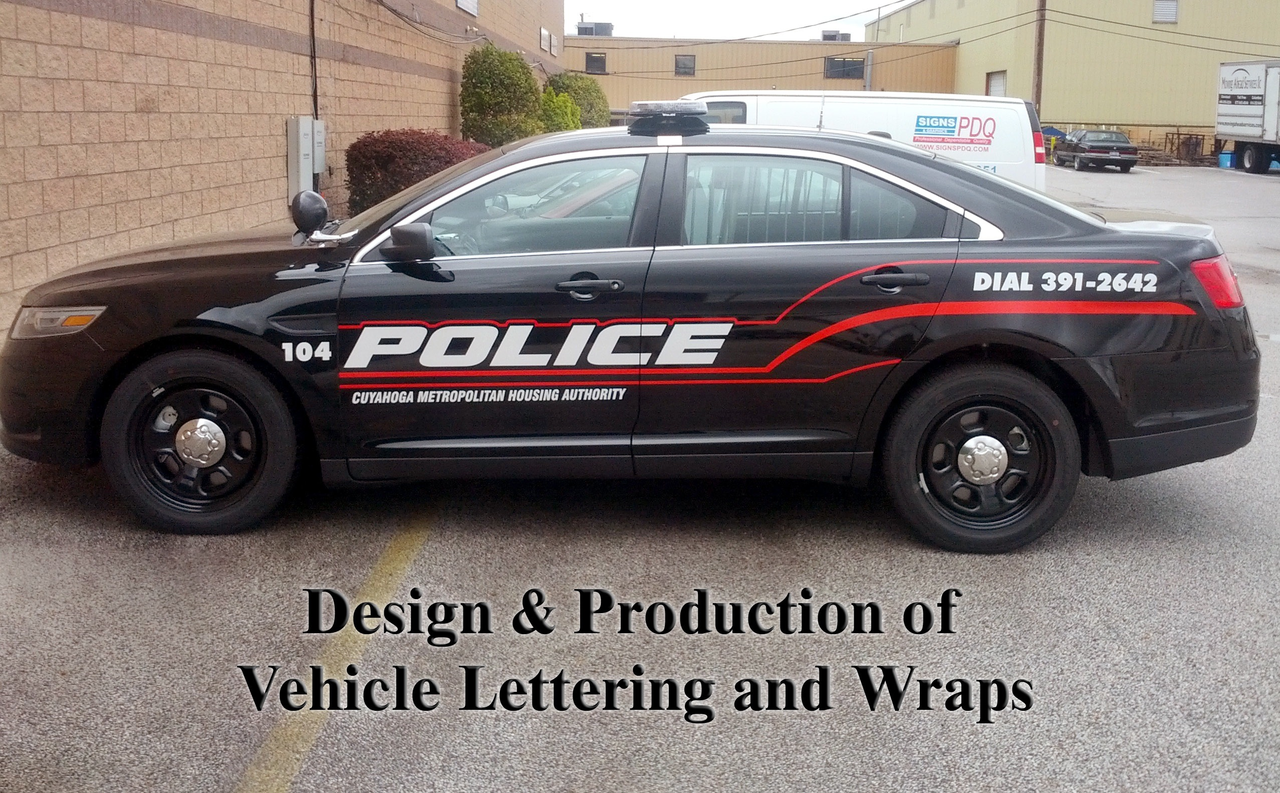 Custom Police Vehicle Graphics For Cleveland OH Police Department - Custom vinyl decals cleveland ohio