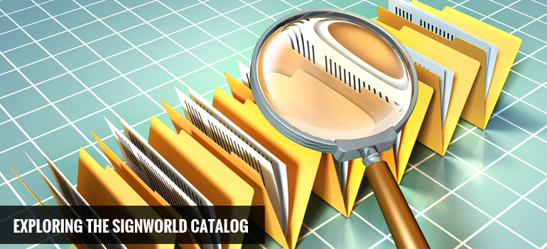 Exploring the Signworld Catalog