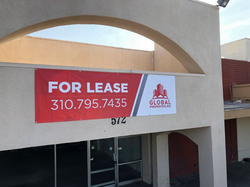 Commercial Real Estate Banners in La Habra CA