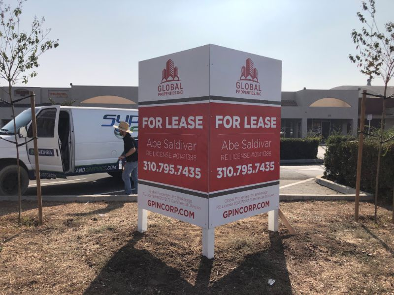 Commercial Property For Lease Signs in La Habra CA
