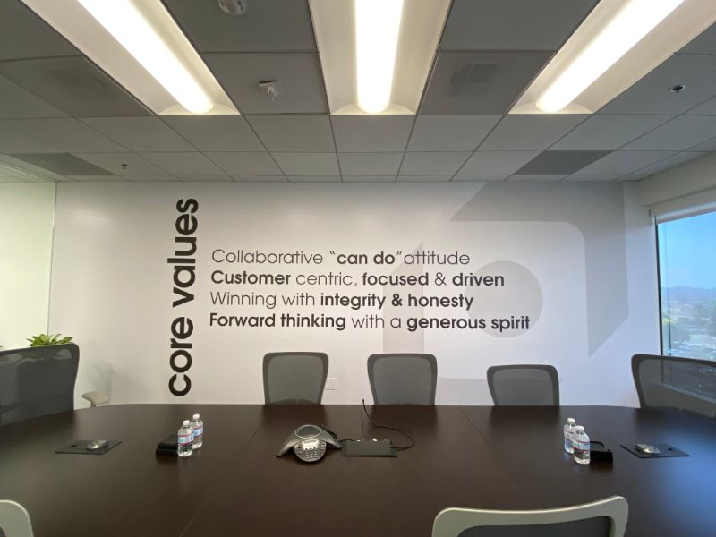office wall murals and graphics in Orange