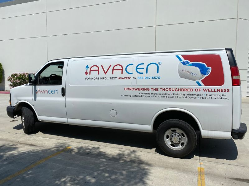 commercial van decals and lettering in Long Beach CA