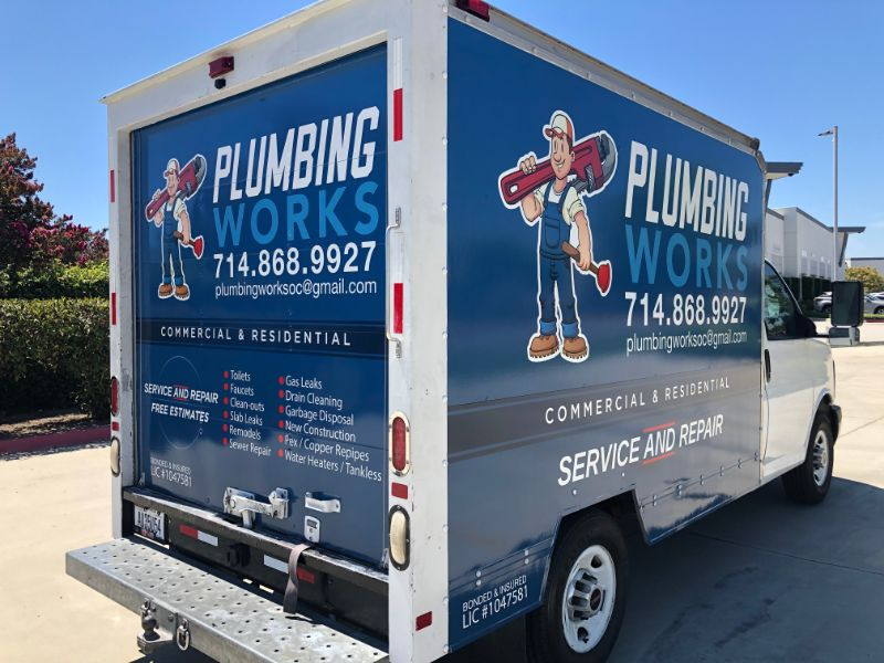 Plumbing Truck Graphics in Orange County CA