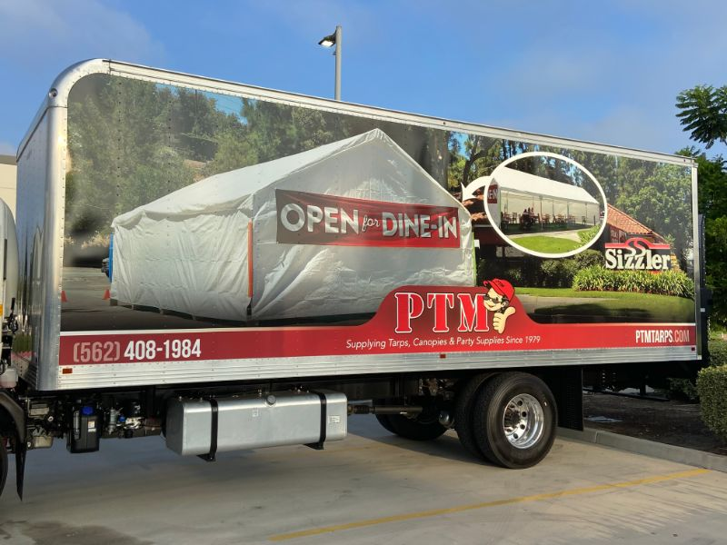 box truck wrap in Paramount CA