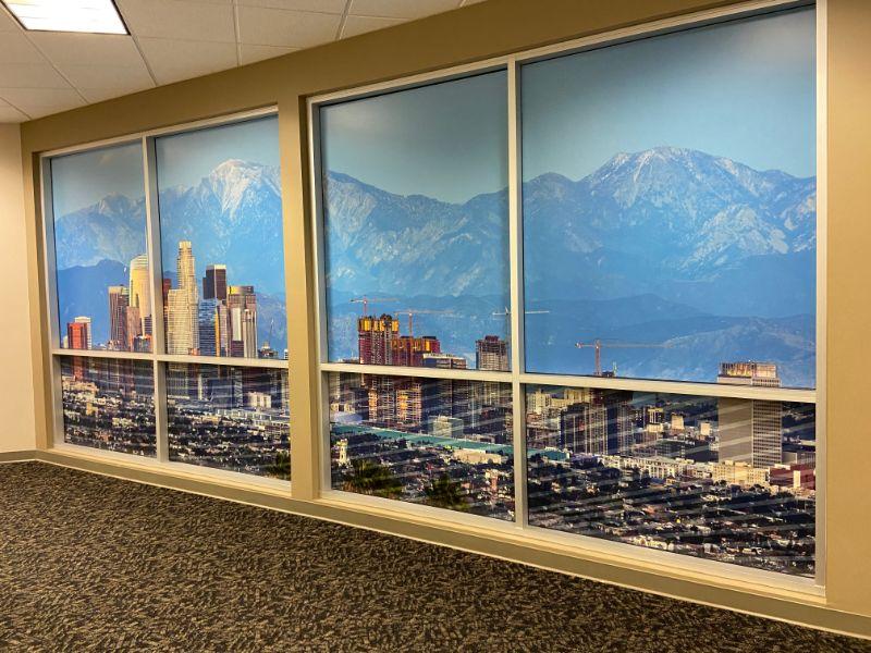 office window graphics in Los Angeles CA