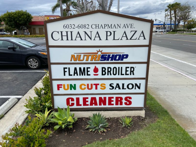 LED Retrofits for Cabinet Monument Signs in Orange County CA