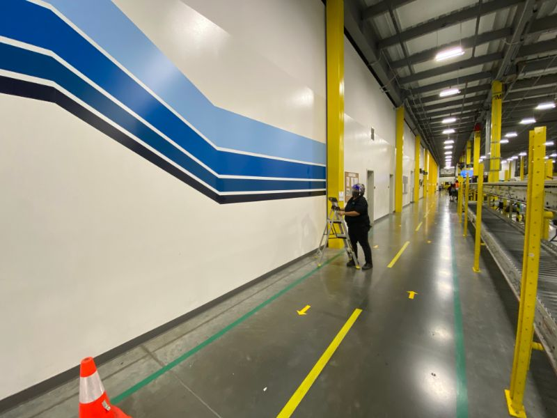 Wall Graphics for Distribution Centers and Warehouses in Los Angeles