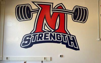 Bolsa Grande High School Builds School Spirit with Weight Room Wall Graphics in Garden Grove!