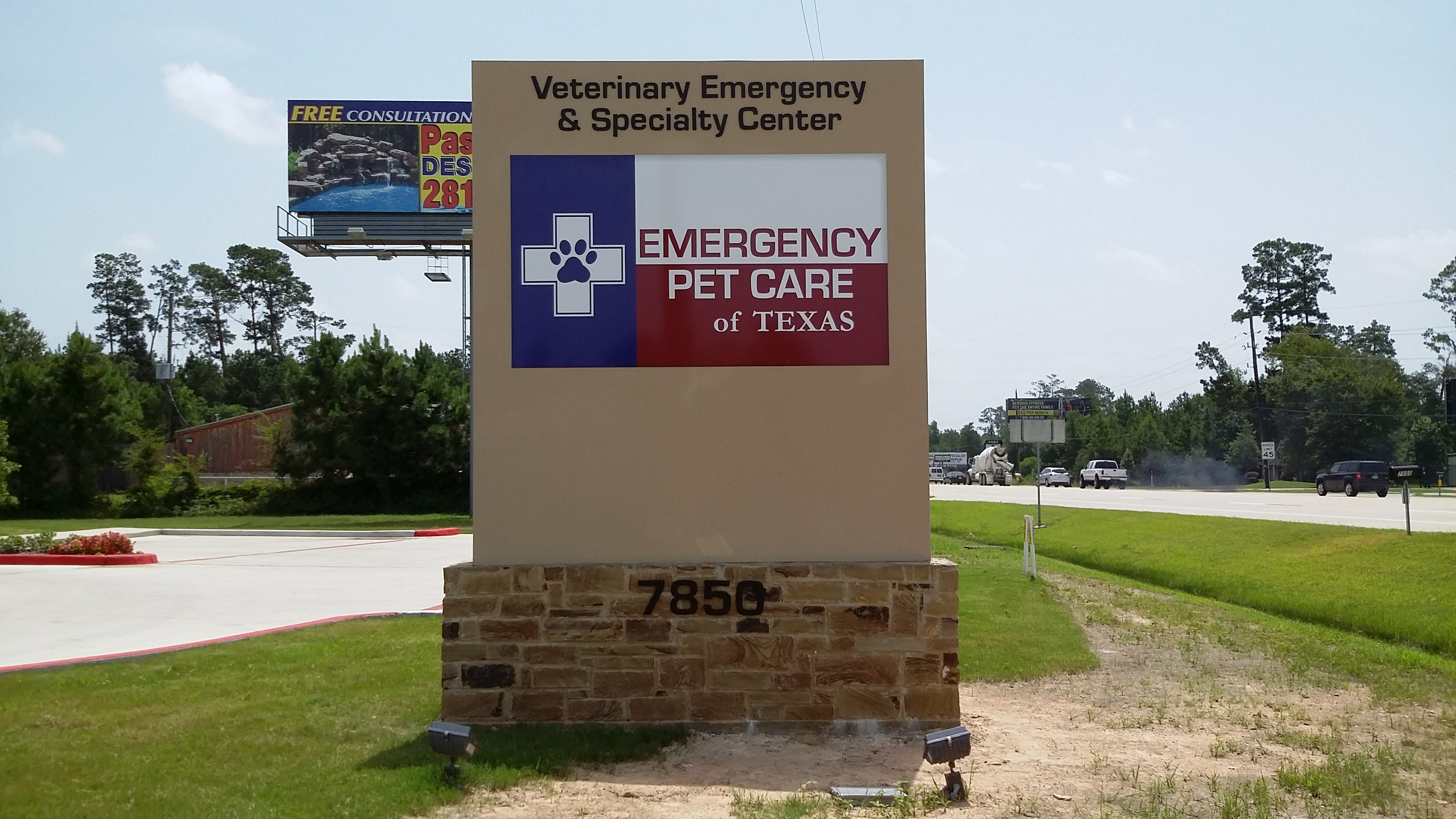 External Signage in Magnolia, TX for Emergency Pet Care of Texas