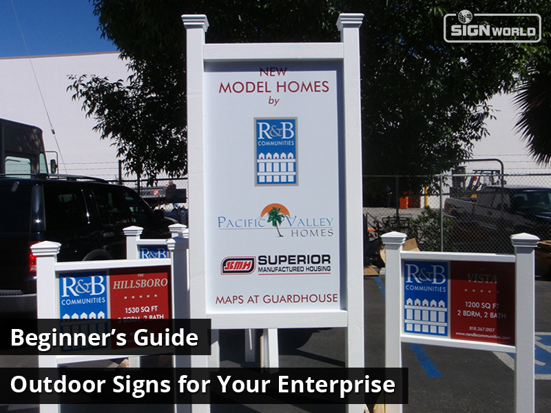 Beginner's Guide: Outdoor Signs for Your Enterprise