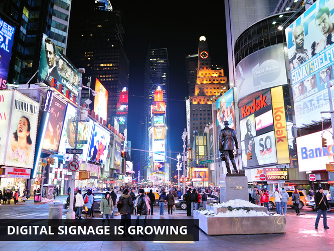 Digital Signage is Growing