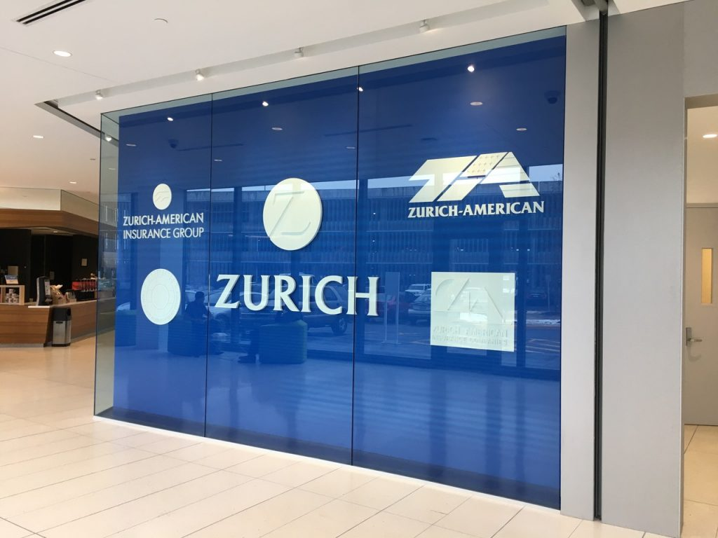 Custom Cut Zurich Branding Wall