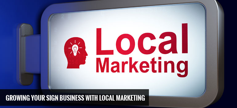 Sign Business Local Marketing