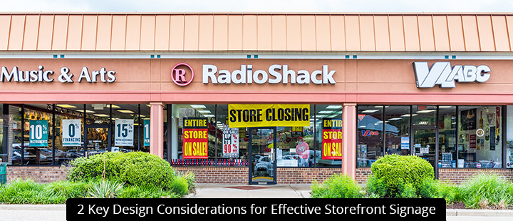 2 Key Design Considerations for Effective Storefront Signage